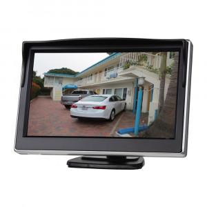 """LCD monitor 5"""" černý na palubní desku s možností instalace na HR držák"""