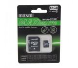 Paměťová karta MicroSDXC 64GB CL10 + adaptér, MAXELL