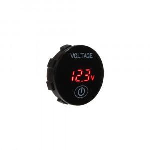 Digitální voltmetr 5-36V červený s ukazatelem stavu baterie
