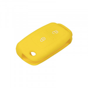 Silikonový obal pro klíč Škoda, VW, Seat 2-tlačítkový, žlutý