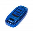 TPU obal pro klíč Audi, carbon modrý