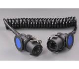 kabel spirálový 24V 5P ABS 4m