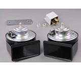 klakson 12V dvoutónový elektromagnetický-šnek TW80/2N