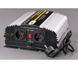 měnič+dobíječka z 12V DC na 230V AC 600W sinus