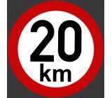 samolepka rychlosti 20 km