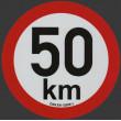 samolepka rychlosti REFLEXNÍ 50 km průměr 20 cm