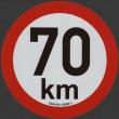 samolepka rychlosti REFLEXNÍ 70 km půměr 20 cm