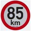 samolepka rychlosti REFLEXNÍ 85 km pr. 20 cm