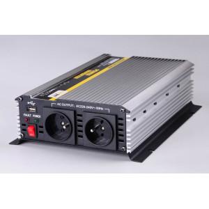 měnič napětí z 12V DC na 230V AC 1600W trvale