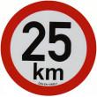 samolepka rychlosti REFLEXNÍ 25 km průměr 20 cm