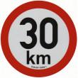 samolepka rychlosti REFLEXNÍ 30 km průměr 20 cm