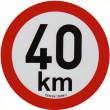 samolepka rychlosti REFLEXNÍ 40 km průměr 20 cm