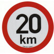 samolepka rychlosti REFLEXNÍ 20 km průměr 20 cm
