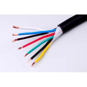 kabel 6x1+1x1,5mm sedmibarevný gumová izolace/1m balení