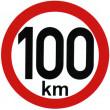 samolepka rychlosti 100 km průměr 15 cm