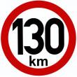 samolepka rychlosti 130 km průměr 15 cm