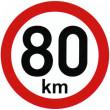 samolepka rychlosti 80 km průměr 15 cm