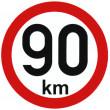 samolepka rychlosti 90 km průměr 15 cm
