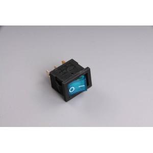 Přepínač podsvětlený 19x13mm modrý/malý/ 12V