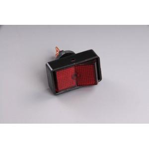 Přepínač podsvětlený 34x20mm červený/velký/