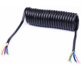 kabel spirálový 4,5m sedmižilový 1x1,5mm2+6x1mm2