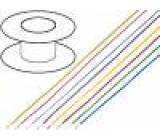 Kabel LiYv licna Cu 0,25mm2 PVC červená 900V 100m