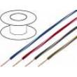 Kabel X05V-K licna Cu 1mm2 PVC černo-červená 300/500V
