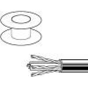 Kabel U/UTP 6 drát Cu 4x2x23AWG PVC modrá 305m