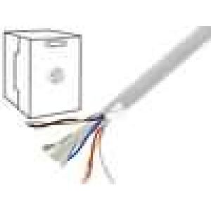 Kabel F/UTP 6 drát Cu 4x2x0,57mm PVC šedá