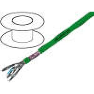 Kabel HELUKAT®450,S/FTP 6 drát Cu 4x2x24AWG FRNC   100m