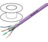Kabel HELUKAT®600,S/FTP 7e drát Cu 4x2x23AWG FRNC fialová