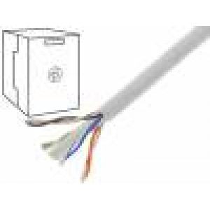 Kabel U/UTP 6 drát CCA 4x2x0,57mm PVC šedá
