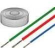 Kabel SiF licna Cu 0,5mm2 silikon bílá -60-180°C 500V 100m