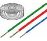 Kabel SiF licna Cu 0,75mm2 silikon červená -60-180°C 500V