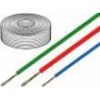 Kabel SiF licna Cu 1mm2 silikon černá -60-180°C 500V