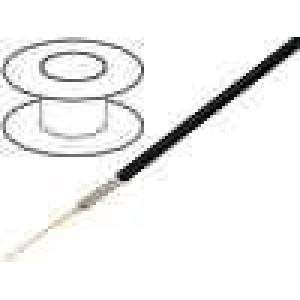 Kabel koaxiální RG174A/U 1x50Ω licna ocelové, poměděné PVC