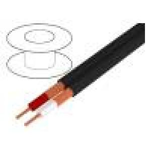 Kabel mikrofonní plochý licna OFC 2x0,25mm2 PVC