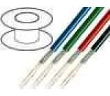Kabel mikrofonní kulatý licna OFC 2x0,35mm2 PVC 100m