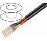 Kabel mikrofonní kulatý licna OFC 7x0,25mm2 PVC 100m
