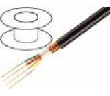 Kabel mikrofonní kulatý licna OFC 3x0,22mm2 PVC 100m