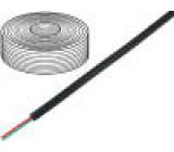 Telefonní kabel licna 2x28AWG černá 100m