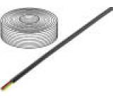 Telefonní kabel licna 4x28AWG černá 100m