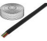 Telefonní kabel licna 8x28AWG černá 100m