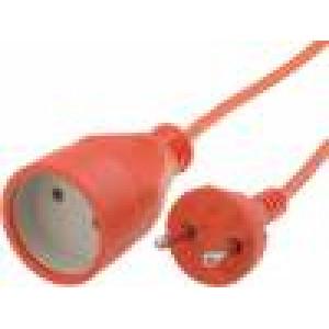 Prodlužovací síťový kabel Zásuvky:1 PVC oranžová 15m 2x1mm2