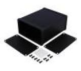 Krabička s panelem 1455 X:103mm Y:120mm Z:53mm hliník černá