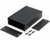Krabička s panelem TUF X:69mm Y:100mm Z:28mm hliník černá