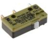 Mikrospínač SNAP ACTION bez páčky SPDT 10A/250VAC ON-(ON)