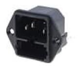 Konektor IEC 60320,napájecí AC KEA C14 (E),2x pojistka 10A