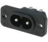 Konektor IEC 60320,napájecí AC C8 (EURO) zásuvka vidlice