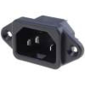 Konektor IEC 60320,napájecí AC C14 (E), V-lock zásuvka 10A